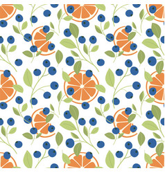 Blueberry and orange pattern vector
