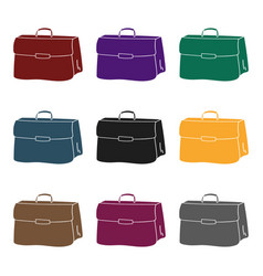 briefcase icon in black style isolated on white vector image
