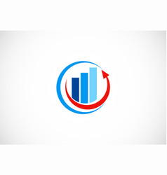 business finance arrow round logo vector image