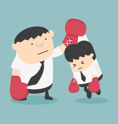 Cartoons concepts Competition Fighting vector image