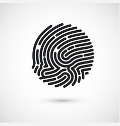 circle ink fingerprint icon design for vector image