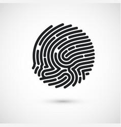 circle ink fingerprint icon design vector image