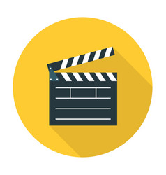 Clapper board flat icon vector image