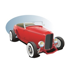 classic hot rod vector image