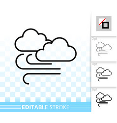 cloud simple black line icon vector image