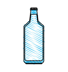 Color crayon stripe milk glass bottle vector