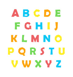 color english alphabet vector image
