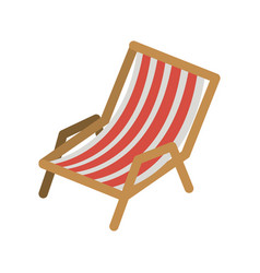 Color silhouette of beach chair vector