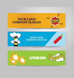 comic banners vector image