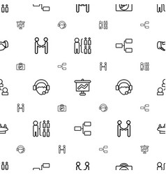 corporate icons pattern seamless white background vector image