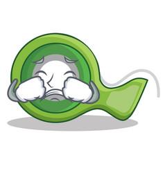 Crying adhesive tape character cartoon vector