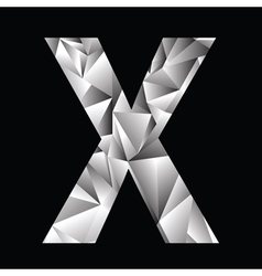 Crystal letter X vector