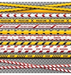 Danger caution tapes for police accident vector