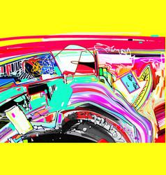 digital abstract painting original artwork vector image