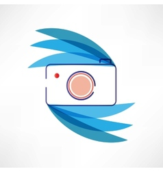 Digital cam icon vector