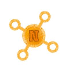 Drawing novacoin web icon vector