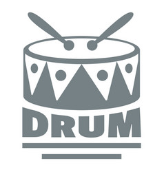 Drum logo simple gray style vector