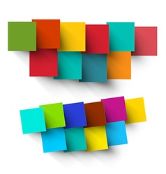 Empty Paper Cut Colorful Square Pieces vector image