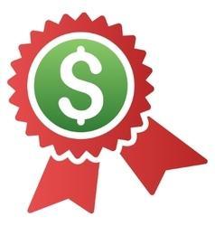 Financial Guarantee Seal Gradient Icon vector