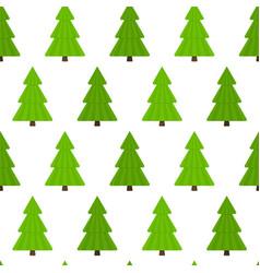 fir-tree seamless pattern vector image vector image