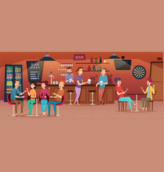 friends cafe interior people meeting in vector image