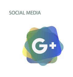 google plus icons on white background vector image