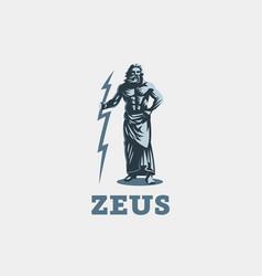 greek god zeus vector image