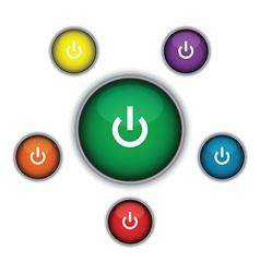 Green on button vector