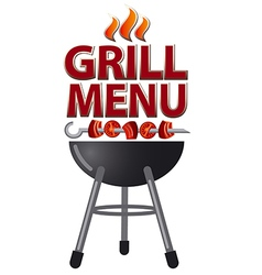 Grill menu sign vector