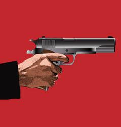 Holding a gun vector