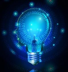 Human Head Light Bulb Technology vector