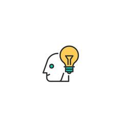 idea icon design startup icon design vector image
