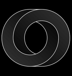 Impossible circle icon vector
