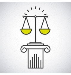 Justice concept design vector