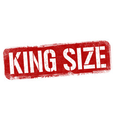 king size sign or stamp vector image