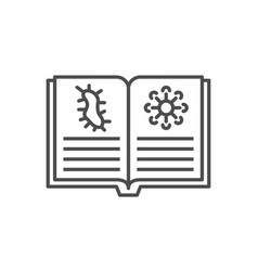 Knowledge virology thin line icon vector