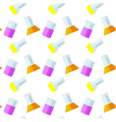 laboratory glass beaker seamless pattern vector image