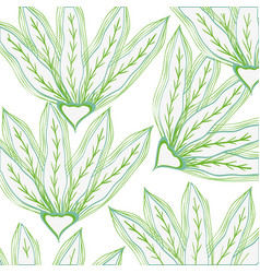 Leafs plant pattern decorative icon vector