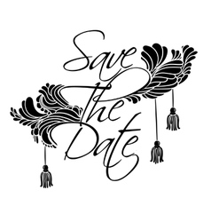 Lettering Save The Date vector image