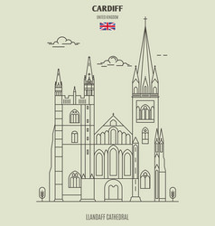Llandaff cathedral in cardiff vector