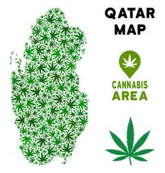 Marijuana mosaic qatar map vector