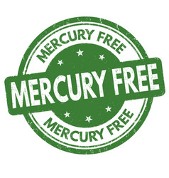 mercury free sign or stamp vector image