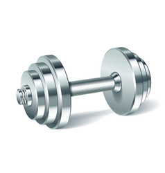 Metal realistic dumbbell vector