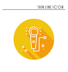 microphone line outline icon voice record vector image