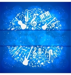 music background with instruments and notes with vector image