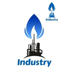 Oil and gas industry factory vector image