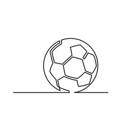 one line ball vector image