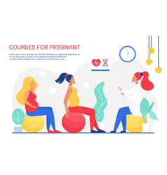 online pregnant course instructor training vector image