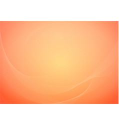 orange background with creative curved line vector image
