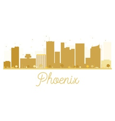 Phoenix City skyline golden silhouette vector